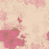 Seamless Rose Pattern. Seamless Vintage Rose Flower Pattern Royalty Free Stock Photos