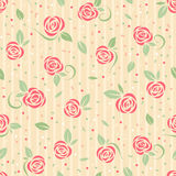 Seamless rose pattern. Seamless pattern with stylized roses Royalty Free Stock Images