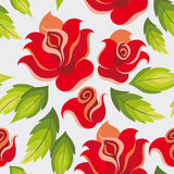 Seamless rose pattern Stock Image