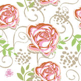 Seamless rose pattern Stock Photo