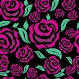 Seamless rose pattern Stock Image
