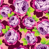 Seamless rose pattern Royalty Free Stock Photo