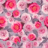 Seamless   rose  pattern. Endless texture for your design Royalty Free Stock Images