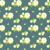 Seamless rose pattern, floral background. Vintage  flower design Stock Photo
