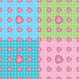 Seamless Rose Pattern. In four colors Stock Photo