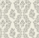 Seamless rose pattern- grey Stock Image