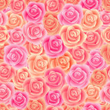 Seamless rose pattern Stock Photos