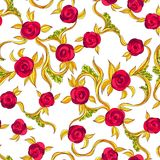 Seamless rose pattern. Royalty Free Stock Images
