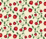 Seamless rose pattern. Repeating rose pattern, vector illustration Royalty Free Illustration