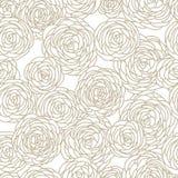 Seamless Rose pattern. Simple vector seamless rose pattern Stock Photos