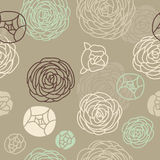 Seamless Rose pattern. Simple yet elegant vector vintage pattern with roses Stock Photography