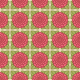 Seamless Rose Pattern Two. Hand drawn seamless rose pattern. Easy To edit Royalty Free Stock Image