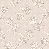 Seamless rose pattern Stock Images