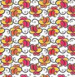 Seamless roseblommabakgrund Arkivfoton