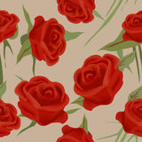 Seamless roses Stock Photo