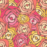 Seamless roses background Stock Photo