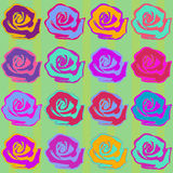 Seamless Roses Background Pattern Stock Image