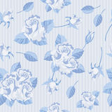 Seamless roses blue Royalty Free Stock Photography