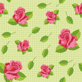 Seamless roses green Royalty Free Stock Image