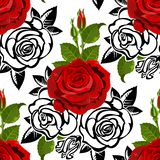 Seamless from roses stock illustration