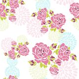 Seamless roses pattern Stock Photos