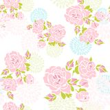 Seamless roses pattern Stock Photo