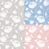 Seamless roses pattern, backdrop, template royalty free illustration