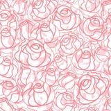 Seamless roses pattern, backdrop Royalty Free Stock Photo