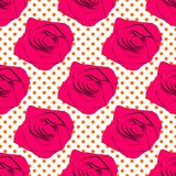 Seamless roses pattern on a background Royalty Free Stock Photography