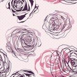 Seamless roses pattern. Elegant floral pattern Stock Images