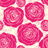 Seamless roses pattern Stock Image