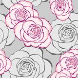 Seamless Roses Pattern. Illustration made with Illustrator. File format: .ai CS 5 compatible Royalty Free Stock Photography