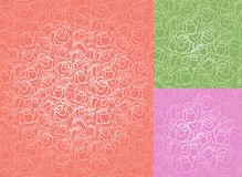 Seamless roses pattern. Set, wallpaper Stock Photo