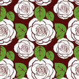 Seamless roses pattern Royalty Free Stock Photo