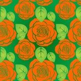 Seamless roses pattern Stock Photos