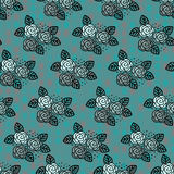Seamless roses pattern Royalty Free Stock Image