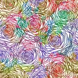 Seamless Roses Pattern. Vector, EPS 10 Stock Photography