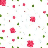 Seamless roses pattern. Vector floral background royalty free illustration