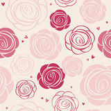 Seamless roses pattern Stock Photography