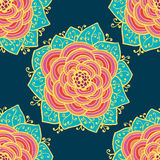Seamless roses pattern. Vector illustration. Seamless absteract colorful roses pattern. Vector illustration Royalty Free Stock Photo