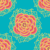 Seamless roses pattern. Vector illustration. Seamless absteract colorful roses pattern. Vector illustration Royalty Free Stock Photography