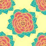 Seamless roses pattern. Vector illustration. Seamless abstract colorful roses pattern. Vector illustration Stock Photo