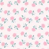 Seamless Roses Pattern. Vintage Floral Background. Stock Image