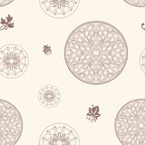 Seamless rosette pattern Stock Photos