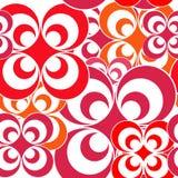 Seamless rosettes background image stock illustration