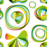 Seamless round bubbles abstract pattern. Royalty Free Stock Images