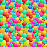 Seamless round bubbles pattern in vector stock illustration
