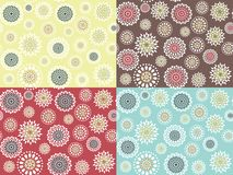 Seamless with round flowers royalty free illustration