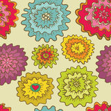 Seamless round flowes pattern Royalty Free Stock Photos
