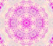 Seamless round ornament pink violet purple beige. Abstract geometric seamless background. Centered round ornament pink violet purple with beige and light gray Royalty Free Stock Photo